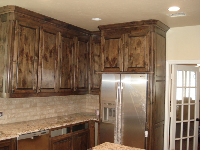 Creating Distressed Wood Cabinets only with Paint and Wax ...