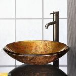 Elegant vessel sink and faucet