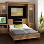 Entertainment center plus folded bed by Murphy