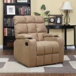 Extra comfy reclining sofa furniture a book rack in black a black side table with table lamp and picture frame