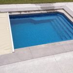 Fiberglass Of Pool With Cover