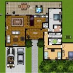 Floor plan for home with park and  patio