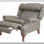Floral patterned recliner with footboard