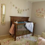 Flower Theme Of Baby ROom With Wooden Baby Crib