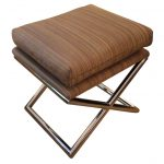 Glossy cooper x base stool with double cushions
