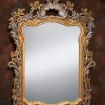 Gold And Silver Framed Antique Mirror