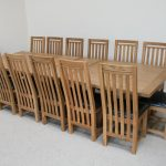 Good 12 Seat Dining Table And Chairs Wooden