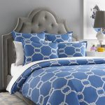 Gorgeous blue bedcover and pillow cases with unique patterns