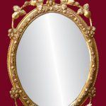Gorgeous Gold Framed Oval Mirror
