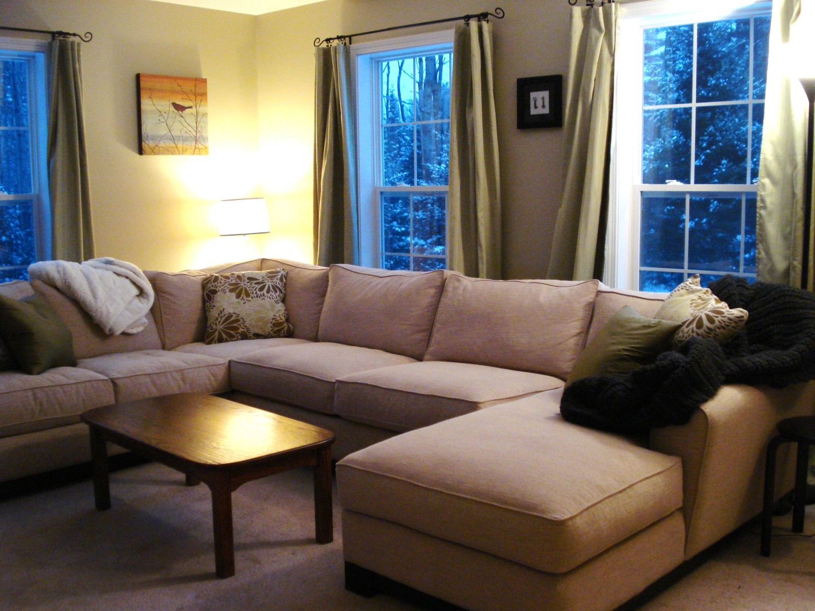 U Shaped Sectional with Chaise Design - HomesFeed