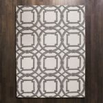 Grey modern patterned global view rug idea