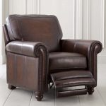 High class look leather recliner sofa in extra large size with footrest feature
