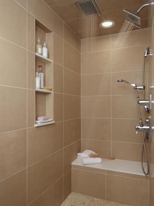 Built In Shower Shelves Homesfeed