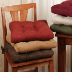 Kitchen Wooden Chair Cushions With Ties In Different Colors