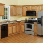L Shape Kitchen Counter With Wooden Kitchen Cabinetry