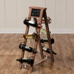 Ladder wine rack made from wooden