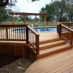 Large Wooden Deck Of Swimming Pool