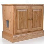 Litterbox cabinet for cat with single door feature