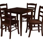 Long Wooden Chairs WIth Its Square Table