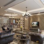 Luxury Living Room Interior Design With Awesome Furniture And Perfect Bright Lighting