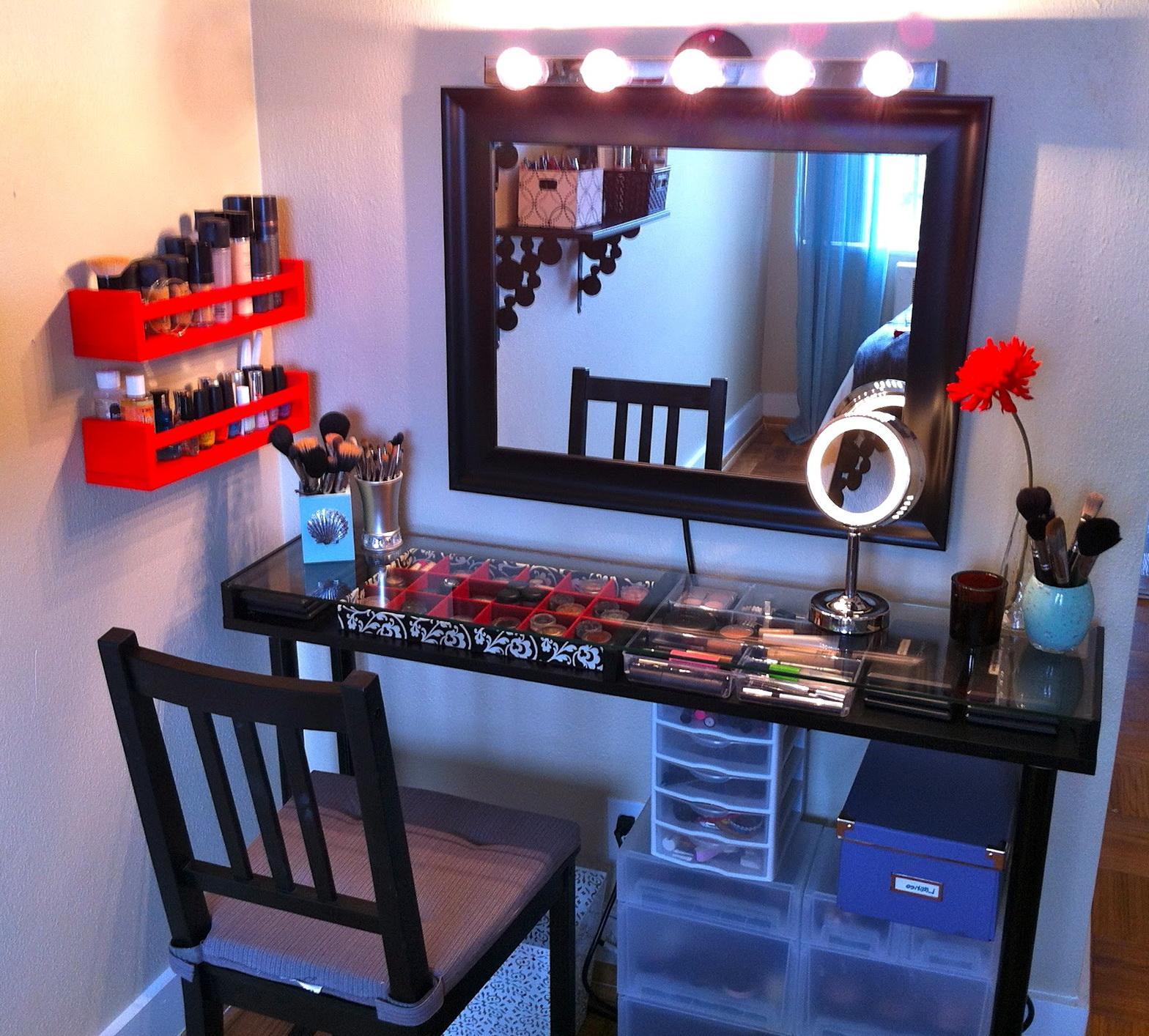 Makeup Vanity Table With Lights Homesfeed