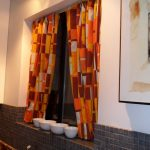 Mid century plus modern style curtain for glass window