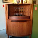 Mid centurys modern bar cabinet system in wood material