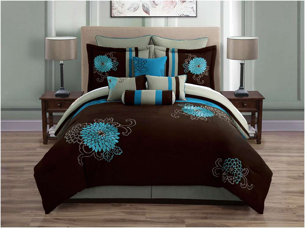 Teal and brown bedding product selections homesfeed for Teal and brown chair