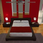 Modern bedroom plan in 3 dimension made by house designer software