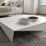 Modern minimalist coffee table idea in large size and in white color