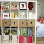 Modern open book rack idea as room separator