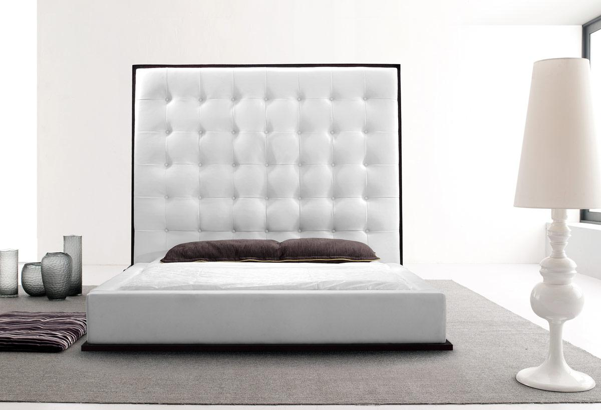 White leather headboard queen homesfeed for White on white furniture