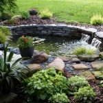 Pretty Garden Ponds With Waterfall Design And Natural Environment