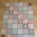 Pretty and cozy quilt designed for baby boy