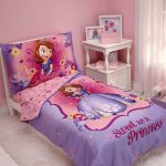 Princess Bed Sheet And Pillows Design For Girl Bedroom With Small Table And Cabinet