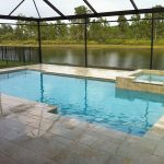 Rectangular Outdoor Pool With Cover