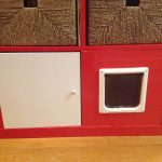 Red Cat Litter Box With Door
