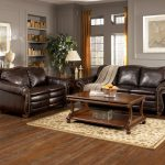 Rustic Design For Living Room With Old Style Sofa Wooden Table Stylish Rug Small Storage Shelf And Long Curtain