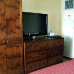 Rustic wood storage organizer for clothes a TV cabinet system