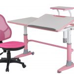 SMart Pink And White Desk With Chair For Kids