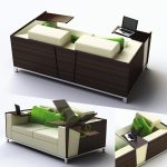 Seductive Functional Furniture Of Couche With Table Desk