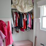 Simple Kid Closet WIth Curtains And Trunk