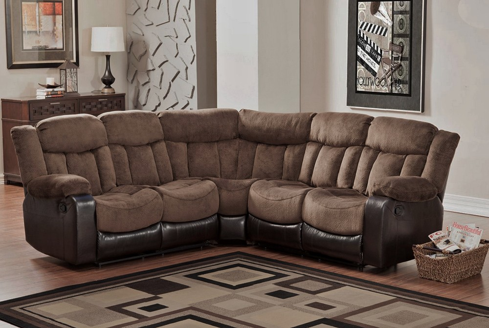 Microfiber Reclining Sectional Create So Much Coziness