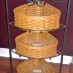 Simple classic corner wrought iron shelves with additional dried root boxes storage