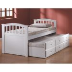 Simple white trundle with storage pull out bed frame footboard and headboard