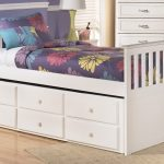 Single trundle with storage headboard and footboard in white