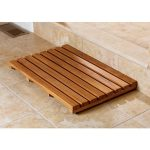 Solid wood shower mat idea