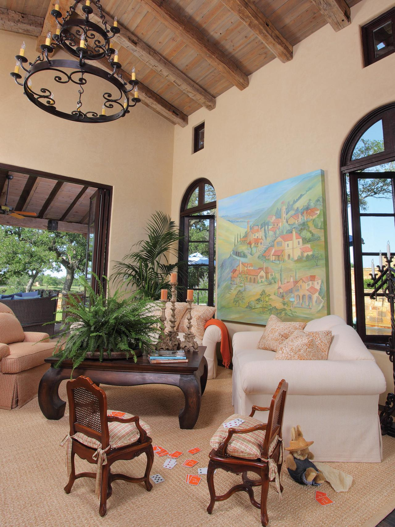 Living Room Spanish Style Design