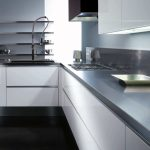 Stainless Steel Metal Grey Of Kitchen Interior Design