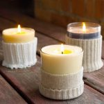 Sweater candle holders idea as beautiful accent for table